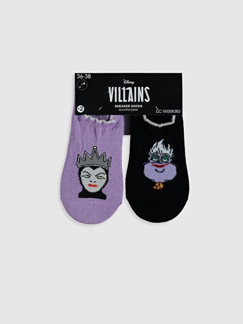 Disney Karakterleri Baskılı Sneaker Çorap 2'li - LC WAIKIKI