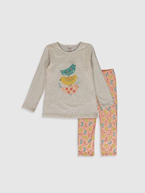 Kız Çocuk Baskılı Pijama Takımı - LC WAIKIKI