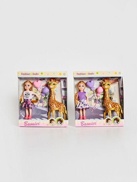 Kız Çocuk Oyuncak Bebek ve Zürafa - LC WAIKIKI