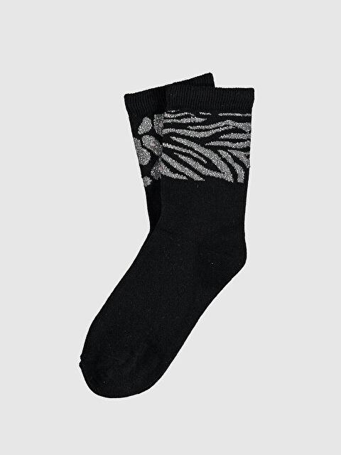Desenli Işıltılı Soket Çorap - LC WAIKIKI