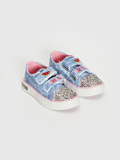 Kız Bebek Nakış Detaylı Işıklı Spor Ayakkabı - LC WAIKIKI