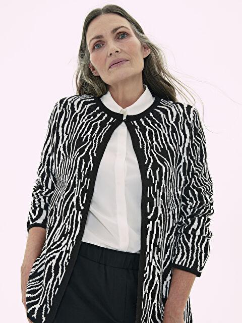 Zebra Desenli Triko Hırka - LC WAIKIKI