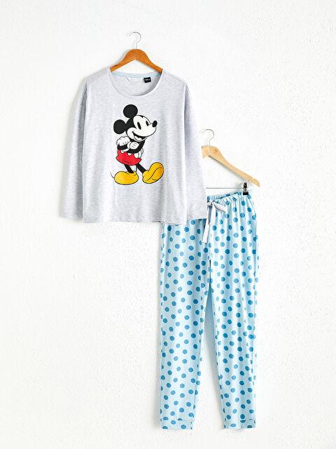 Mickey Mouse Baskılı Pijama Takımı - LC WAIKIKI