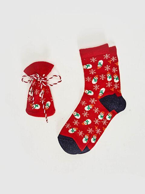 Kız Çocuk Keseli Yılbaşı Temalı Soket Çorap - LC WAIKIKI