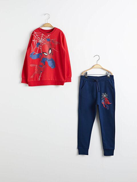 Erkek Çocuk Spiderman Sweatshirt ve Eşofman Altı - LC WAIKIKI