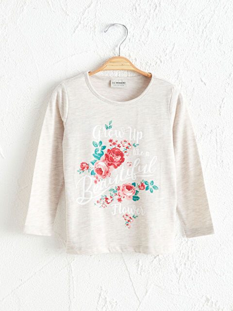 Kız Çocuk Baskılı Tişört - LC WAIKIKI