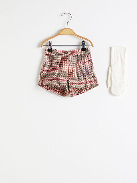 Kız Bebek Şort ve Külotlu Çorap - LC WAIKIKI