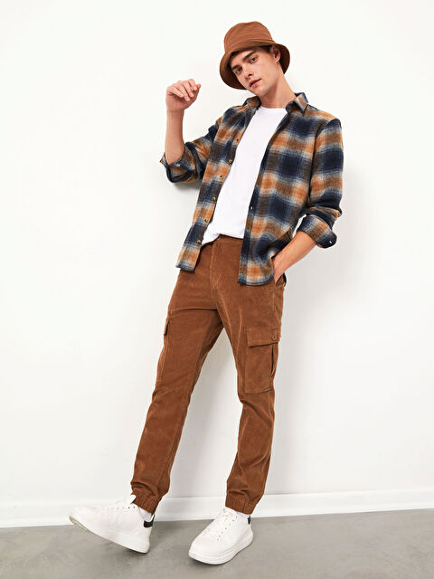 XSIDE Slim Fit Kadife Kargo Pantolon - LC WAIKIKI