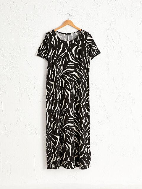 Zebra Desenli Salaş Elbise - LC WAIKIKI