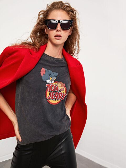 XSIDE Tom Ve Jerry Baskılı Pamuklu Tişört - XSIDE