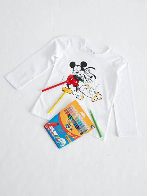 Erkek Bebek Disney Baskılı Sweatshirt ve Silinebilir Boya Kalemi - LC WAIKIKI
