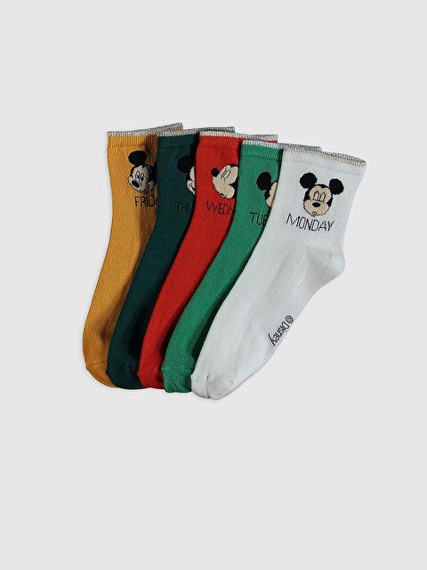 Mickey Mouse Baskılı Soket Çorap 5'li - LC WAIKIKI