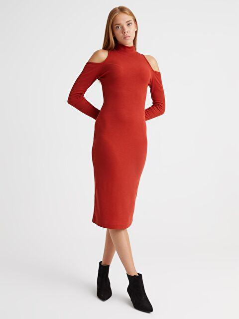Omuz Detaylı Elbise - LC WAIKIKI