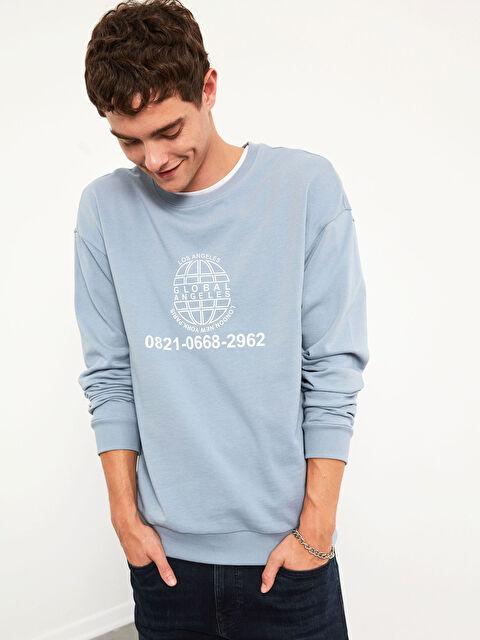 XSIDE Baskılı Oversize Sweatshirt - LC WAIKIKI