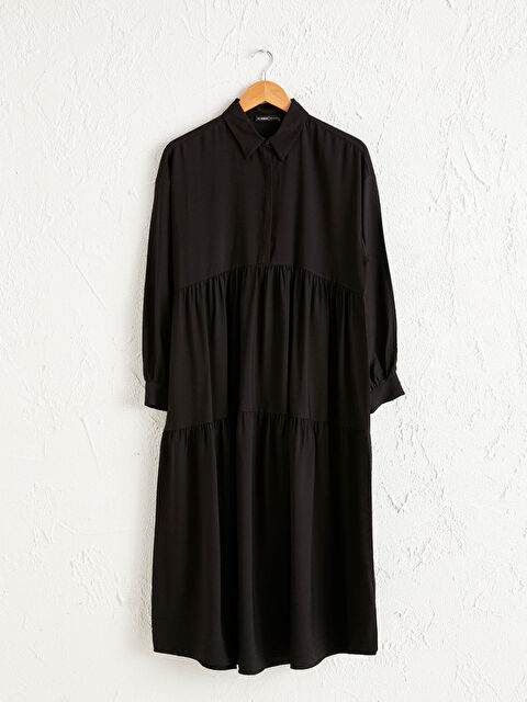 Dokulu Kumaştan Oversize Elbise - LC WAIKIKI