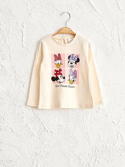 Kız Bebek Disney Baskılı Pamuklu Tişört - LC WAIKIKI