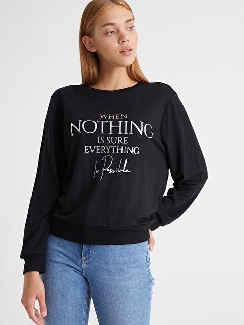 Yazı Baskılı Sweatshirt - LC WAIKIKI