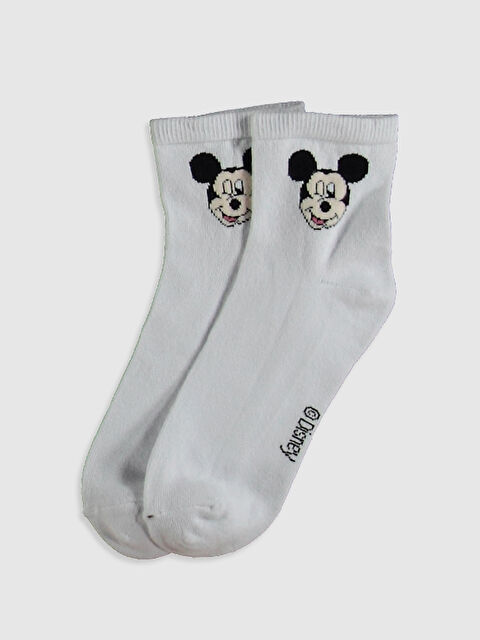 Mickey Mouse Baskılı Soket Çorap - LC WAIKIKI