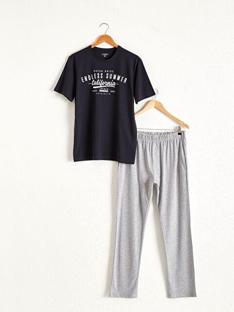 Standart Kalıp Baskılı Pamuklu Pijama Takım - LC WAIKIKI