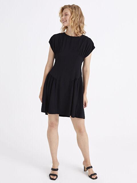 Büzgü Detaylı Kloş Elbise - LC WAIKIKI
