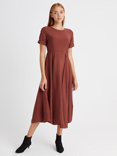 Yaka Detaylı A Kesim Elbise - LC WAIKIKI