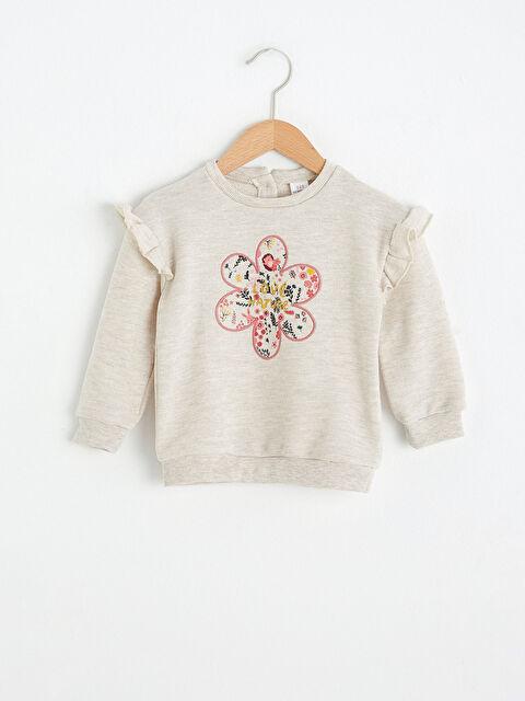 Baby Girl's Printed Sweatshirt - LC WAIKIKI