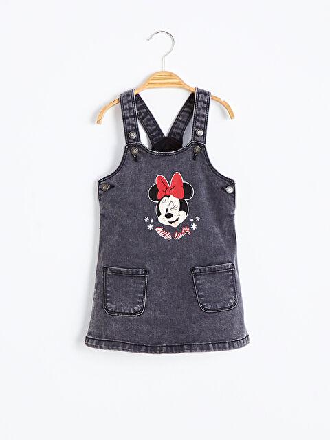Kız Bebek Minnie Mouse Baskılı Jean Elbise - LC WAIKIKI