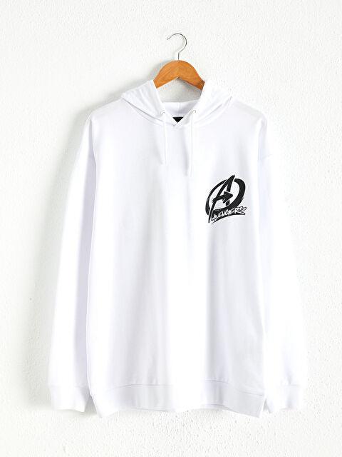 Avengers Baskılı Kapüşonlu Sweatshirt - LC WAIKIKI