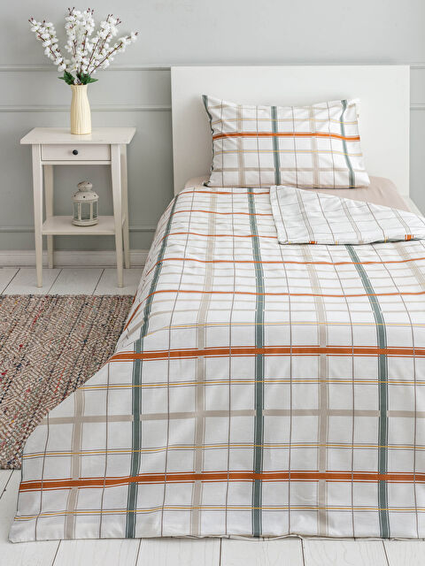 Kids Plaid Double Sided Duvet Cover Set - LCW HOME