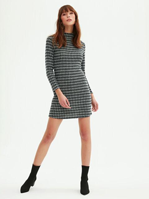 Kaz Ayağı Desenli Elbise - LC WAIKIKI