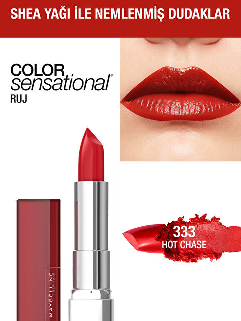 Maybelline New York Color Sensational Ruj - 333 Hot Chase - Kırmızı - Markalar