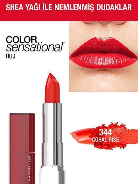 Maybelline New York Color Sensational Ruj - 344 Coral Rise - Kırmızı - Markalar