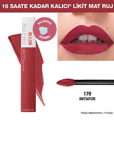 Maybelline New York Super Stay Matte Ink Likit Mat Ruj - 170 Initiator - Pembe - Markalar