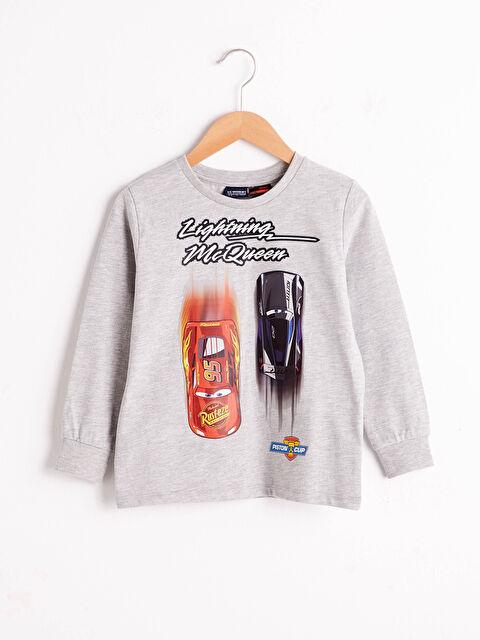 Erkek Çocuk Arabalar Baskılı Tişört - LC WAIKIKI