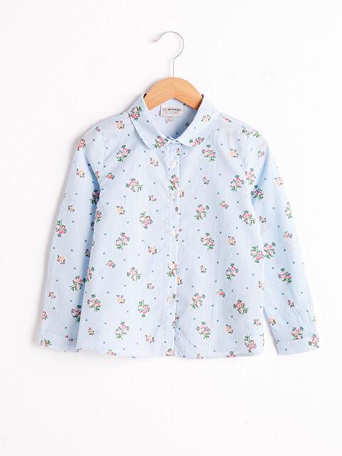 Kız Çocuk Desenli Poplin Gömlek - LC WAIKIKI