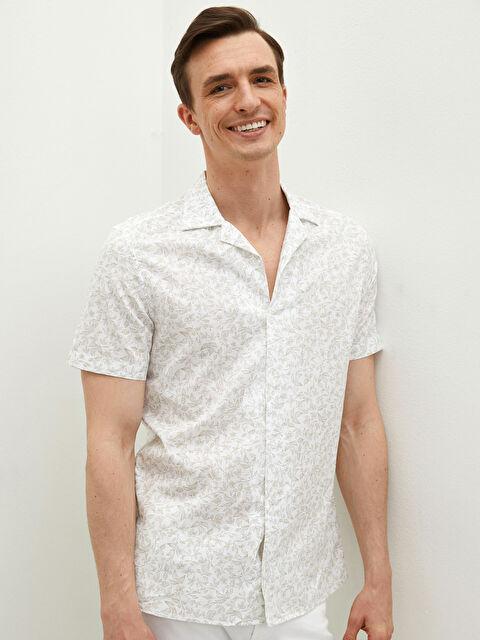 LCW CLASSIC Regular Fit Short Sleeve Poplin Men's Shirt - LC WAIKIKI