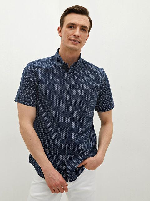 LCW CLASSIC Regular Fit Short Sleeve Patterned Men's Shirt - LC WAIKIKI