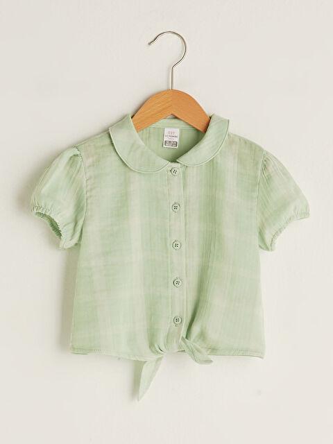 Baby Collar Short Sleeve Baby Girl Shirt - LC WAIKIKI
