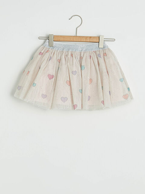 Elastic Waist Patterned Baby Girl Tulle Skirt - LC WAIKIKI