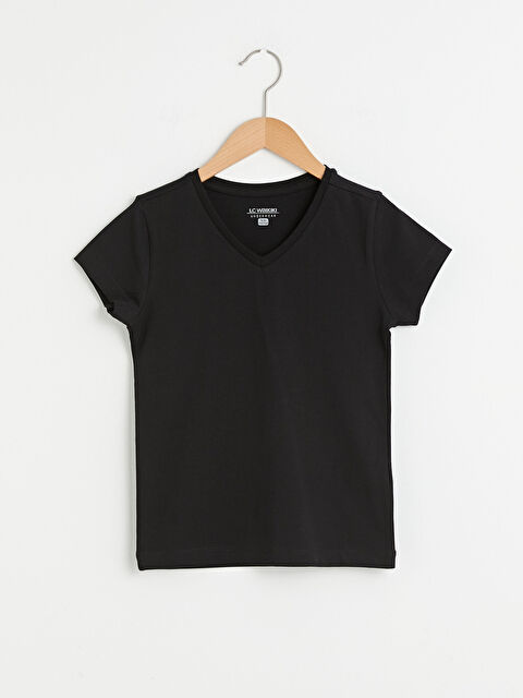 V Neck Basic Short Sleeve Boy Undershirt - LC WAIKIKI