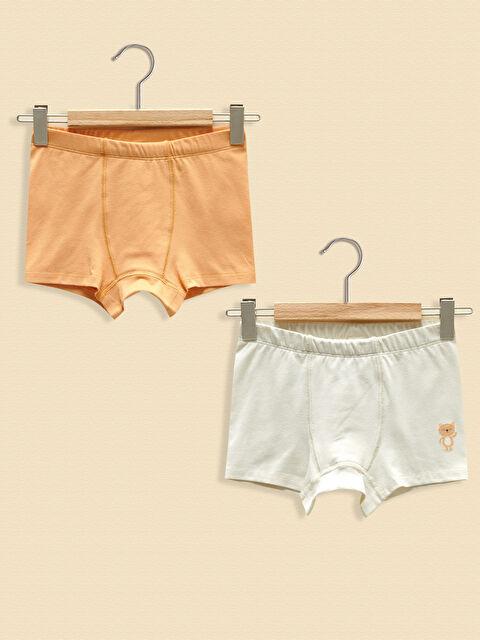 LCW GREEN Cotton Baby Boy Boxer 2 Pieces - LC WAIKIKI