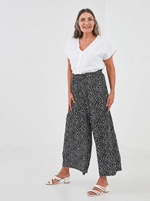 LCW GRACE Elastic Waist Patterned Belmando Fabric Women's Pants Skirt - LC WAIKIKI