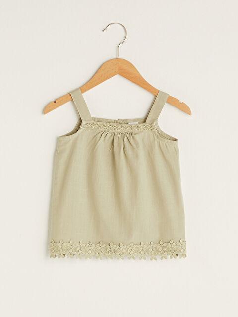 Square Neck Strap Baby Girl Blouse - LC WAIKIKI