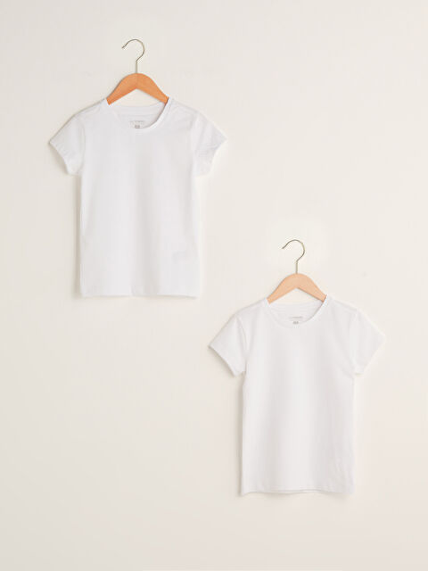 Crew Neck Basic Short Sleeve Boy Undershirt 2 Pieces - LC WAIKIKI