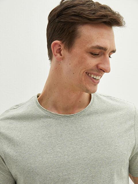 Crew Neck Short Sleeve Striped Men's Undershirt - LC WAIKIKI