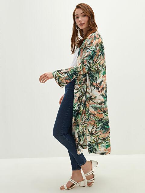LCW CLASSIC Patterned Long Sleeve Viscose Women's Kimono - LC WAIKIKI