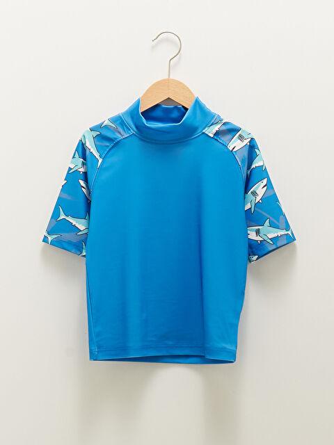 Boys' Printed Quick Dry Short Sleeve Swimming Top - LC WAIKIKI