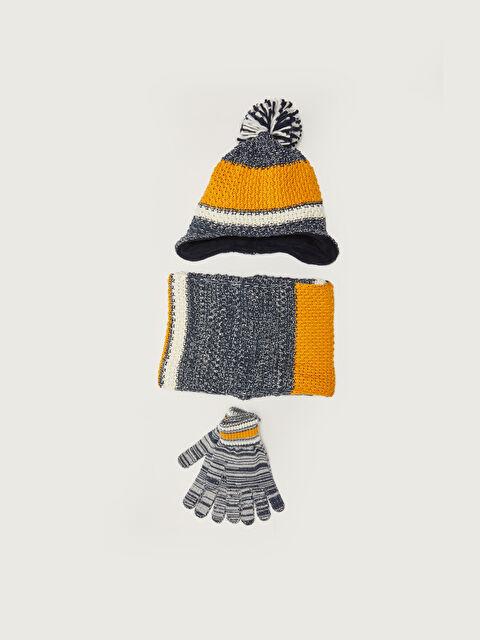 Boy Child Beanie Gloves and Neck Collar - LC WAIKIKI