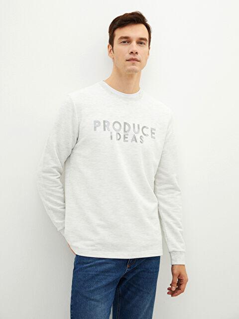 LCW CLASSIC Crew Neck Long Sleeve Printed Men's T-Shirt - LC WAIKIKI