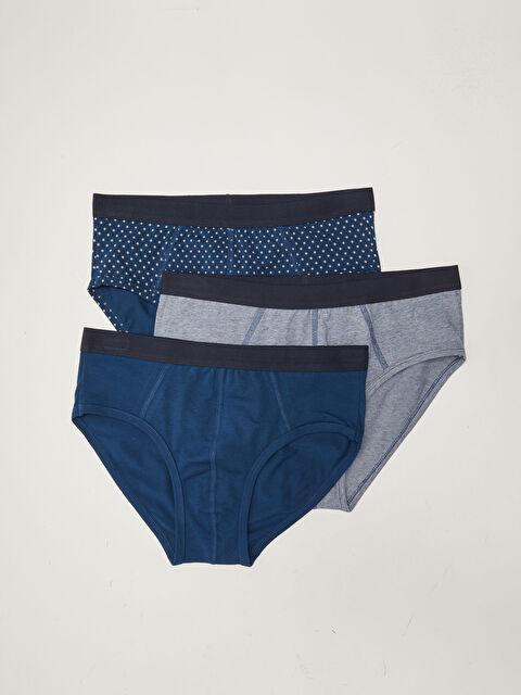 Standard Pattern Flexible Fabric Men's Slip Boxer 3 Pieces - LC WAIKIKI
